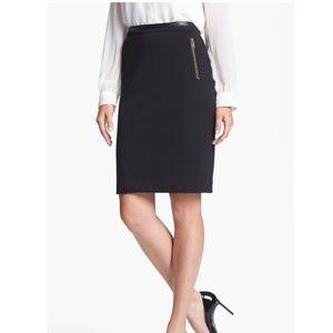 Calvin Klein Zip Pocket Pencil Skirt